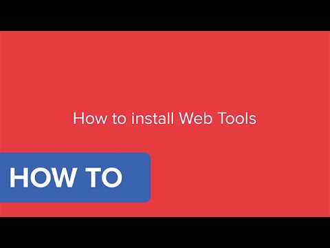 How do I download and install Web Tools for SuperOffice?