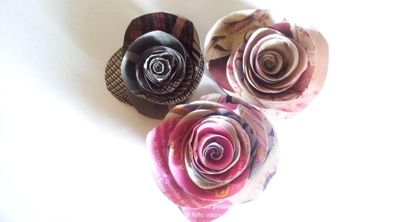 How To Make A Simple Rose With Magazine Diy Crafts Tutorial Guidecentral