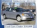 Used Cars Under $10,000|2002 Honda Civic Ex|silver|$6,900*|longmont Denver | Fisher Auto #146389a