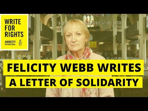 Felicity Webb writes a letter to imprisoned journalist Ayşenur Parildak