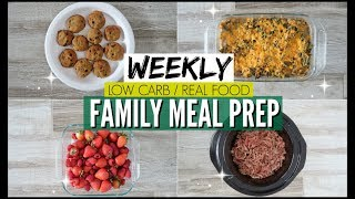 🔥FAMILY KETO MEAL PREP FOR THE WEEK 🥦EASY LOW CARB MEALS 🥘WEEKLY BATCH COOKING KETO REAL FOOD!!!