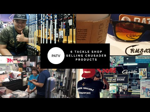 Singapore 6 Tackle Shop With Crusader Products - Ask Ian - ( PATV Productions )