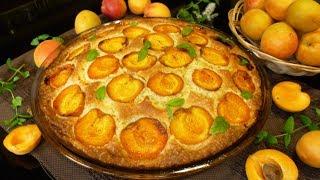 Пирог с абрикосами. Простой и вкусный. Очень лёгкий рецепт