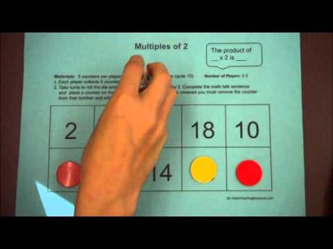 Multiples of 2   3rd Grade Math Game