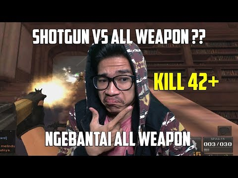 SG VS ALL WEAPON !! BANTAI ALL WEAPON PAKAI SHOTGUN !! POINT BLANK GARENA INDONESIA