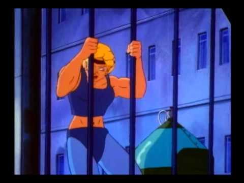 Muscle Girl Bend Steel Cartoon