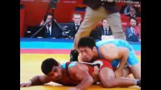 レスリング66kg級金メダル 米満決勝戦