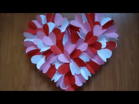 diy-heart-wall-hanging-for-room-decoration-|-wall-hanging-craft-ideas