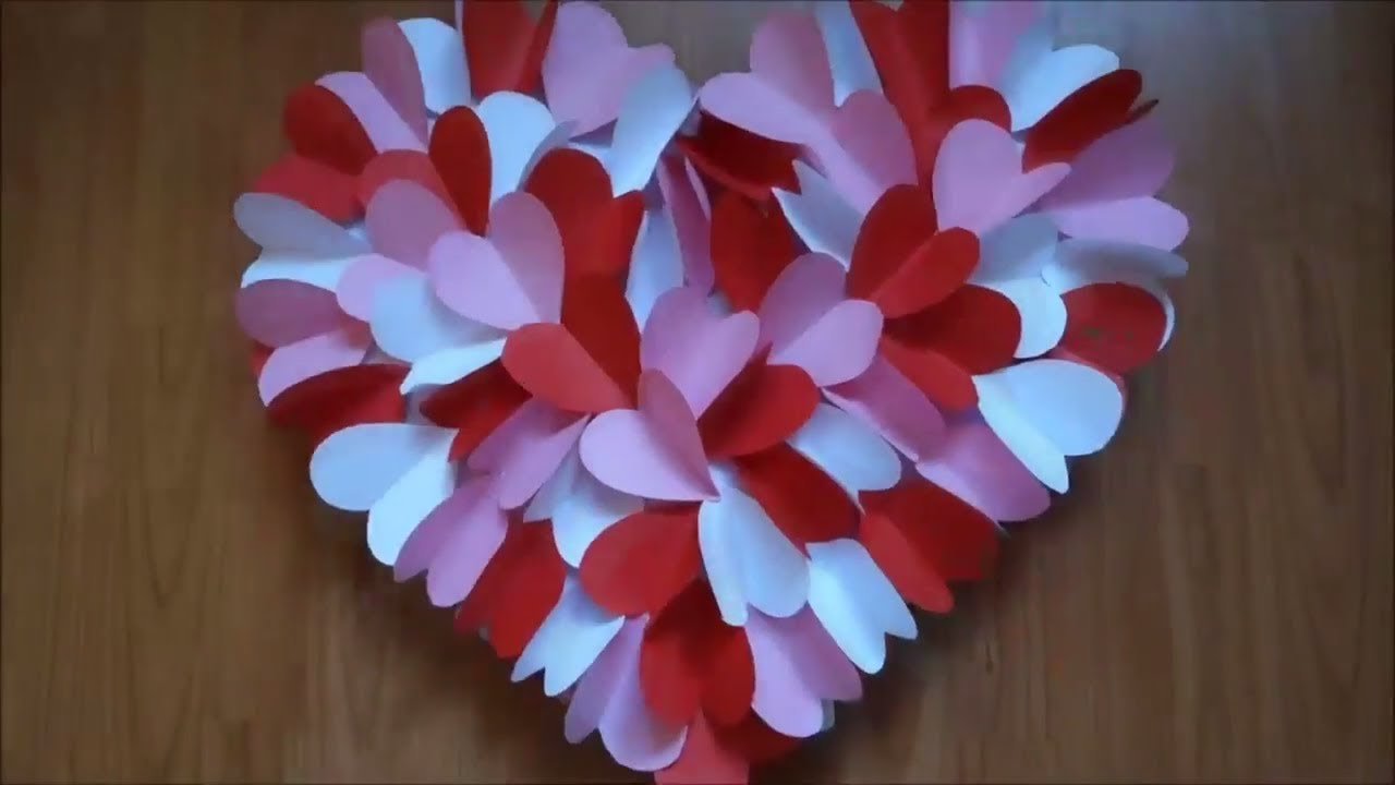Diy Heart Wall Hanging For Room Decoration Wall Hanging Craft Ideas
