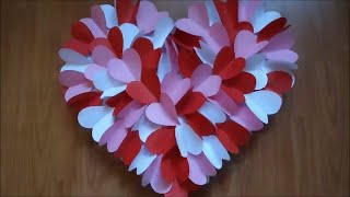 DIY HEART WALL HANGING FOR ROOM DECORATION | WALL HANGING CRAFT IDEAS