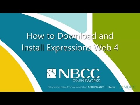 NBCC - How to Download and Install MS Expressions Web 4 - 2014