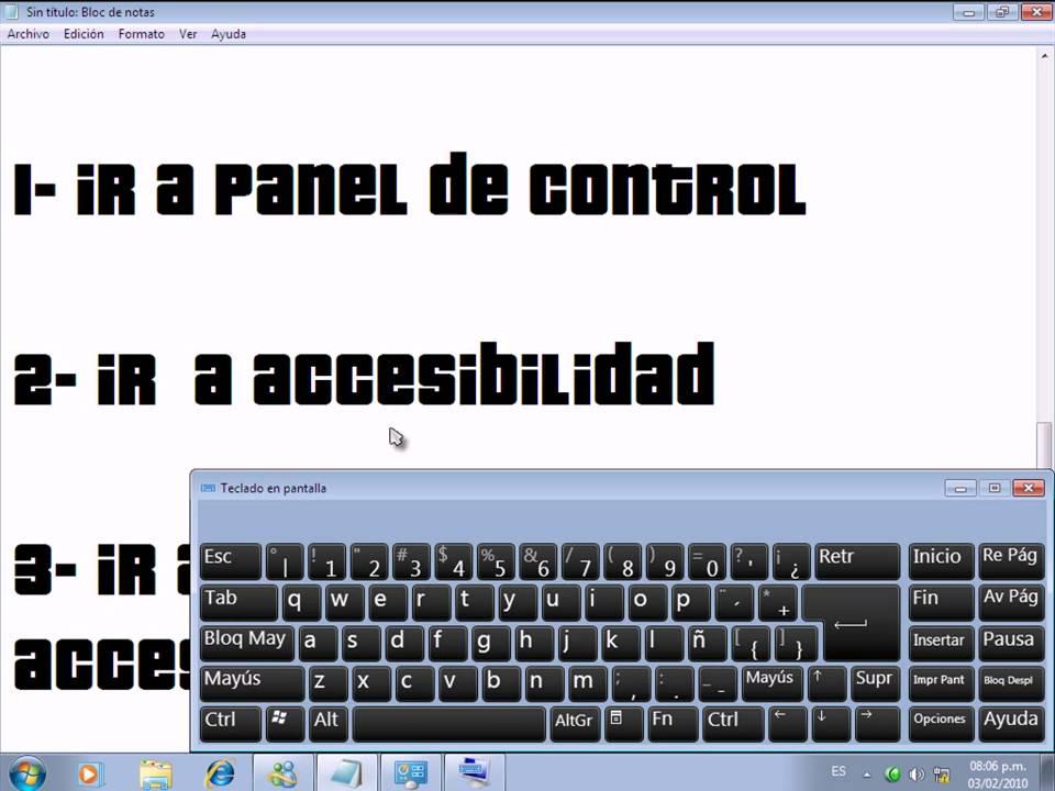Como poner el teclado de pantalla youtube for Como poner chirok en el techo