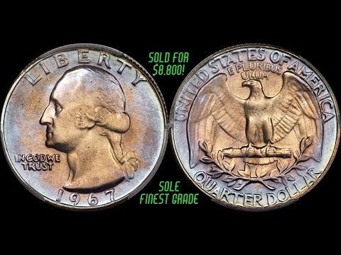 Rare Toned 1967 Washington Quarter Shatters Record With