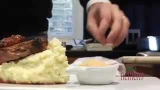 Bone-in Strip Roast W/ Bleu Cheese Mashed Potatoes