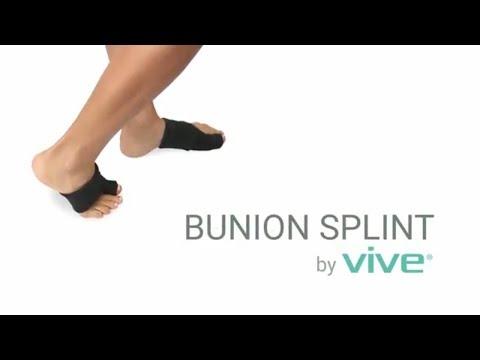 Bunion Splint By Vive - Toe Straightener & Corrector Brace Pad For Hallux Valgus Toe Pain Relief