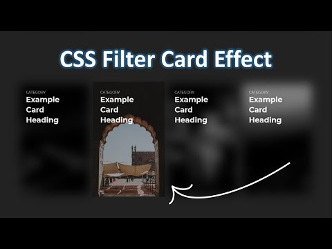 How To Design CSS Filter Card Effect Using Html And CSS