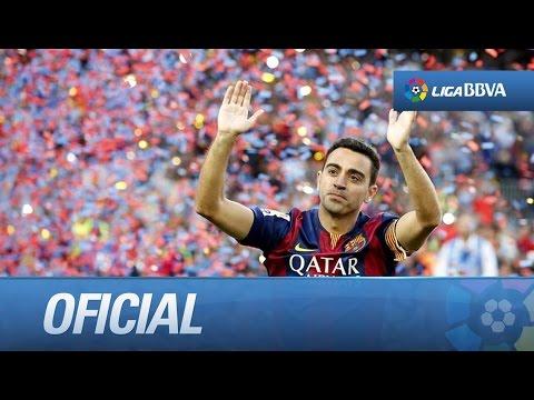 Homenaje a Xavi en su despedida del FC Barcelona
