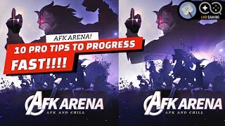 10 PRO TIPS TO PROGRESS QUICK!! : AFK Arena