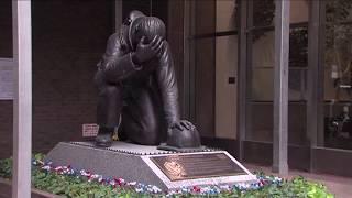 'The Kneeling Fireman' Is Dedicated at Emigrant Savings Bank