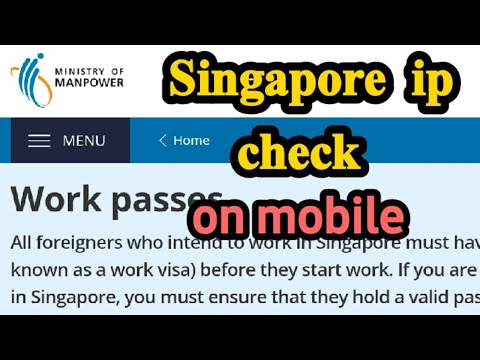 HOW TO CHECK SINGAPORE IP ONLINE   SINGAPORE  IP CHECK ONLINE   IP CHECK