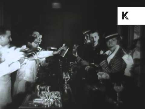 1920s Speakeasy, U.S., Prohibition, Drinking, Dancing, Archive Footage