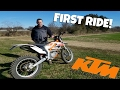 FIRST RIDE ON 2017 KTM FREE RIDE!