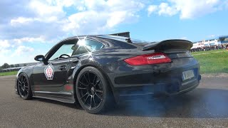 1300HP 9ff Porsche TR1300 - Start Up, Accelerations and Dragracing!