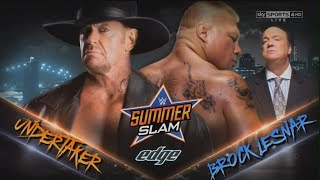 WWE SummerSlam Promo 2015 - Brock Lesnar vs The Undertaker