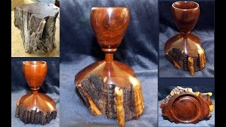 Woodturning - Ironwood Goblet