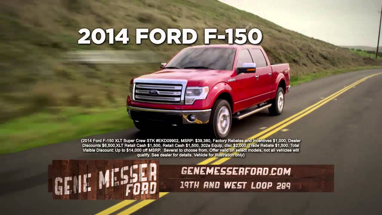 Get close out prices without close out selection @ Gene Messer Ford Lubbock - YouTube