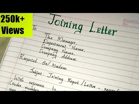 Joining Letter Format Sample Learn How To Write A Joining Letter