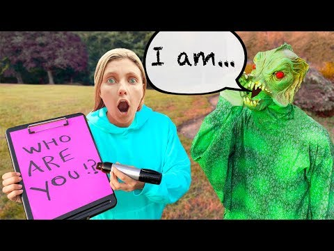 INTERVIEWING POND MONSTER (Lie Detector Evidence Leads to FACE REVEAL Clues)