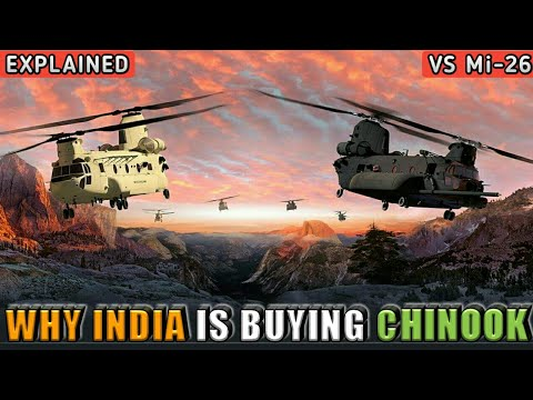 Why India Is Buying Chinook Helicopters? Mi-26 Vs Chinook Helicopter India - Explained (Hindi)