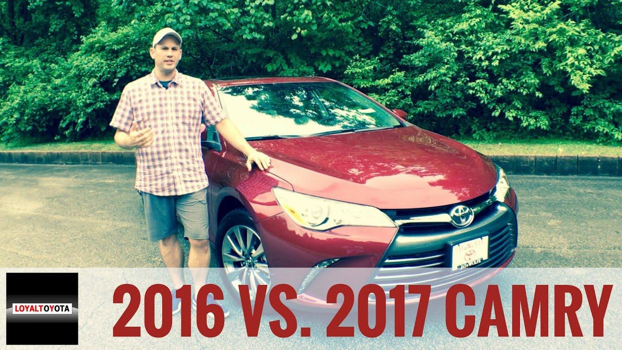 2016 Toyota Camry Xse >> 2016 vs 2017 Toyota Camry - LOYALTOYOTA - YouTube