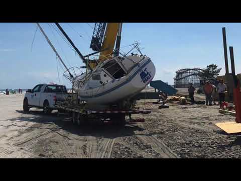 Beached Boat's Mystery Fate Finally Reviled - Wildwood NJ