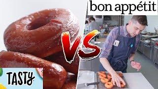 Glazed Donuts- Tasty VS Bon Appétit Buzzfeed Test #175