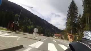 Fahrt von Klösterle durch das Klostertal nach Dalaas