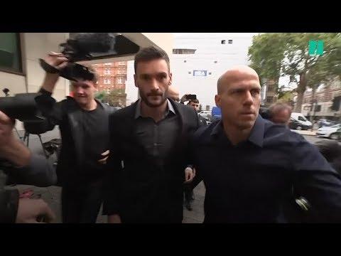 Les images de l'arrivée d'Hugo Lloris au tribunal de Westminster, à Londres