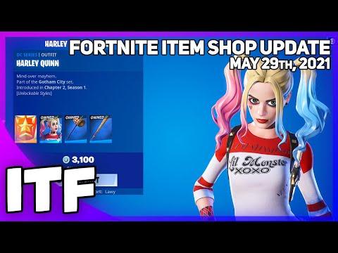Fortnite Item Shop *RARE* HARLEY QUINN SET IS BACK! [May 29th, 2021] (Fortnite Battle Royale)