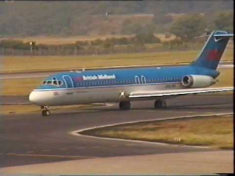 British Midland Airways DC-9 at Edinburgh Airport 1995