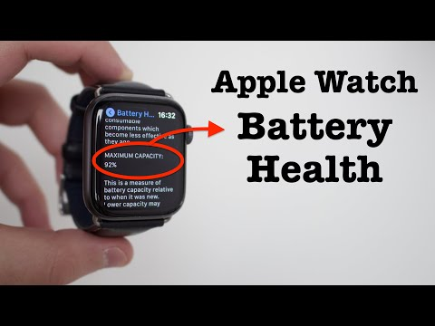 How To Check Apple Watch Battery Health!
