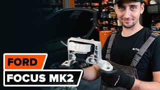 Kaip pakeisti variklio pagalvė FORD FOCUS MK2 Sedanas [AUTODOC PAMOKA]