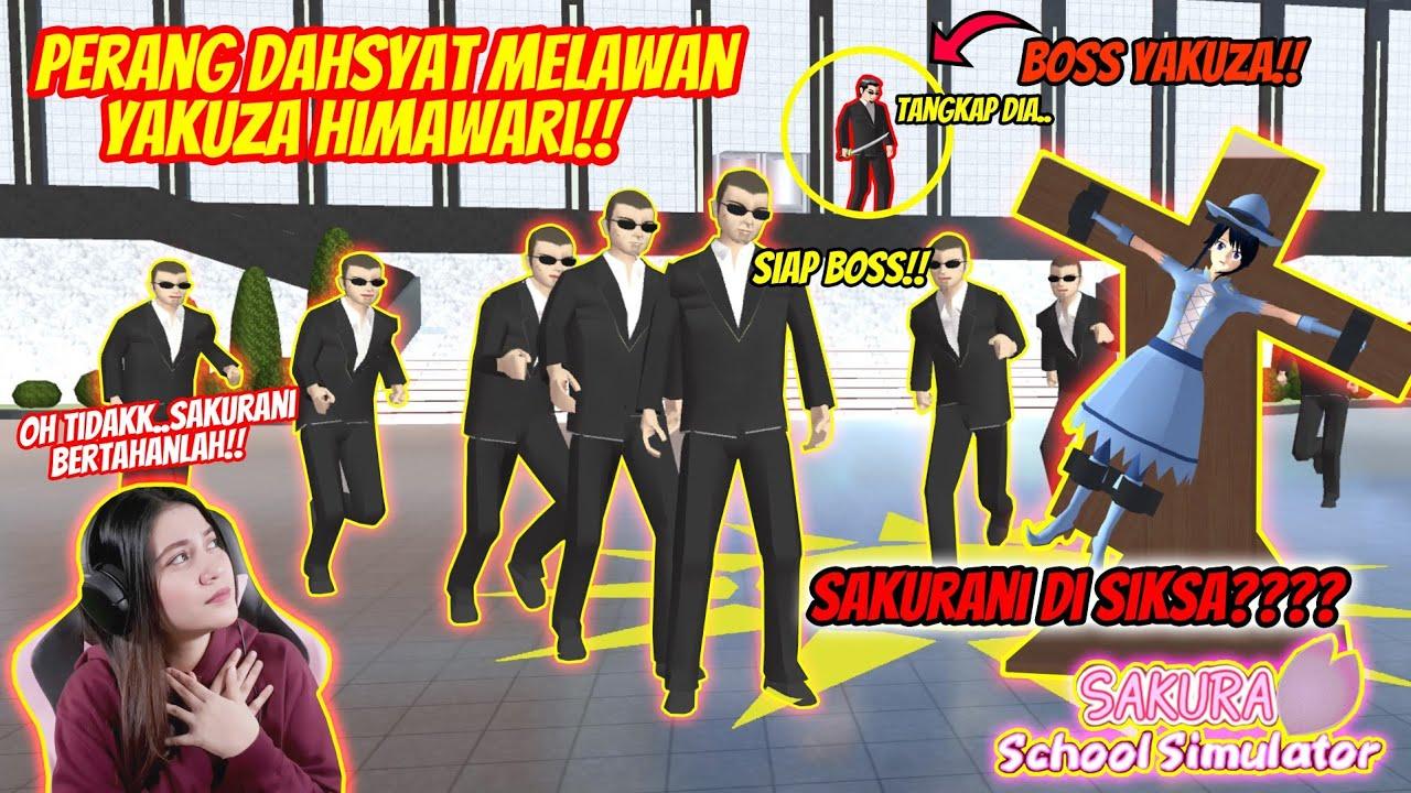 PERANG DAHSYAT!! CARA MUDAH  MENGALAHKAN YAKUZA OFFICE HIMAWARI!! SAKURA SCHOOL SIMULATOR - PART 93