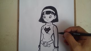 Como dibujar a videl dragon ball z super / HOW TO DRAW A VIDEL DRAGON BALL Z SUPER