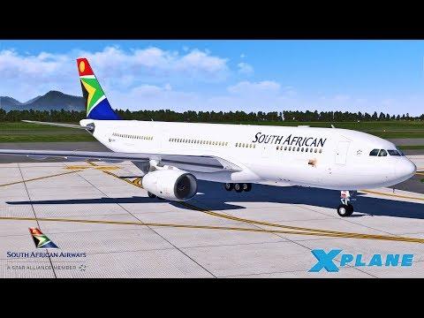 X Plane 11 | SAA A330 | TURBULENT APPROACH IN MAURITIUS