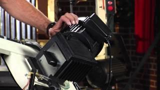 Jet Mitering Horizontal Bandsaw Metalworking Demo