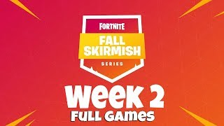 Fortnite #fallSkirmish Week 2 | NA | Royale Flush Solos - FULL GAMES | Myth, Tfue, Ninja, Nick eh 30