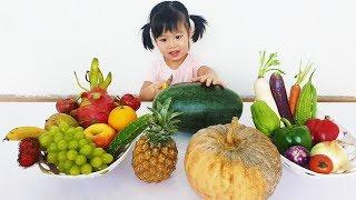 Cutting FRUITS VEGETABLES, Cắt Ăn Thử Khám Phá và Học Tên Rau Củ Quả Thật, BaBiBum