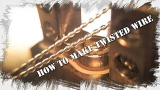電動工具を使わずに、キレイなツイストワイヤーを作成する方法を紹介し...