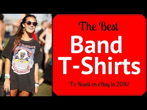 Selling Band Shirts on eBay - What to look for from the 80's 90's & 2000's